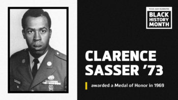 Black History Month Banner - Awarded a Medal of Honor in 1969