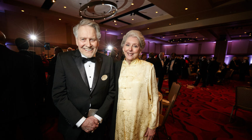 Jon L. Hagler '58 and his wife Jo Ann, long-time Texas A&M benefactors, who gave a $20 million gift to establish the endowment that provides long-term funding for the Institute.