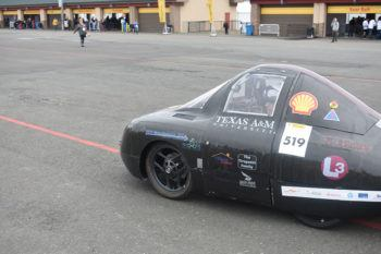 The Texas A&M University team won to top prize for off-track safety.