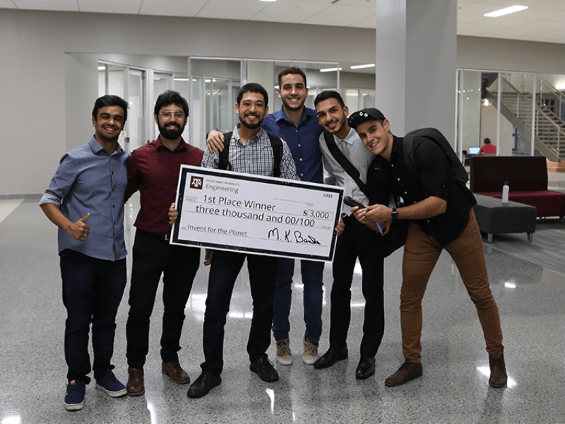 Team Tupa from Brazil designed a device which would benefit people with a vision impairment or blindness by allowing them to avoid obstacles in a path.
