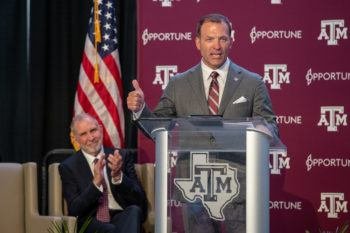 Incoming Texas A&M University Director of Athletics Ross Bjork.