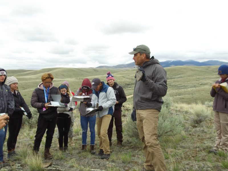 Dr. Brent Miller leads Field Camp in Montana in May 2019.