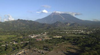 Guatemala's Fuego Volcano and surrounding villages.
