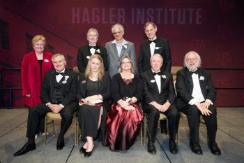 hagler institute fellow inducteed posing for a photo
