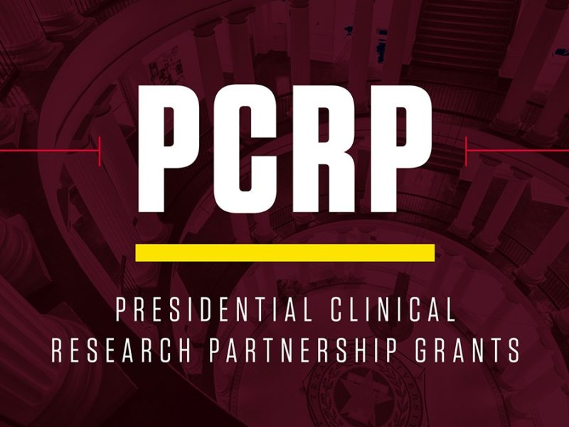 a graphic reading PCRP Presidential Clinical Research Partnership Grant