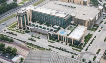 aerial of hotel